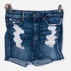 American eagle AE high rise shortie  size 8
